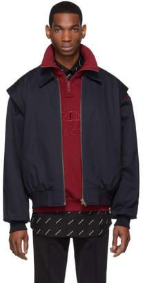 Balenciaga Navy Twin-Set Jacket