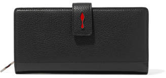 Christian Louboutin Paloma Textured-leather Wallet - Black