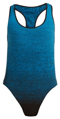 Pepper & Mayne Racer Back Bodysuit - Womens - Blue