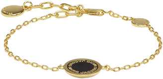 Marc Jacobs Gold Enamel Logo Disc Bracelet $55 thestylecure.com