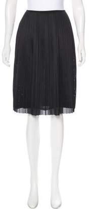A Détacher Pleated Mesh Skirt