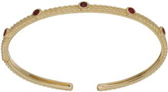 Judith Ripka 14K Gold Gemstone Station Cuff