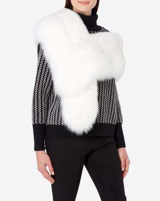 N.Peal Fox Fur Shrug