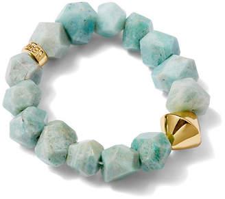 Nest Amazonite Stretch Bracelet - Blue/Light Green