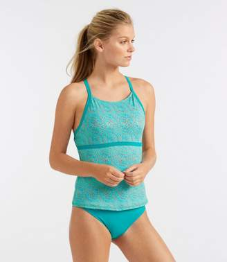 L.L. Bean L.L.Bean Active Swim Collection, Tie-Back Tankini Print