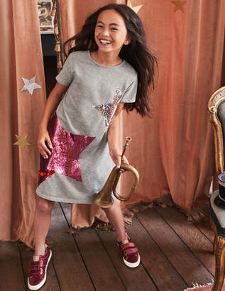 Boden Colour-change Sequin Tee Dress