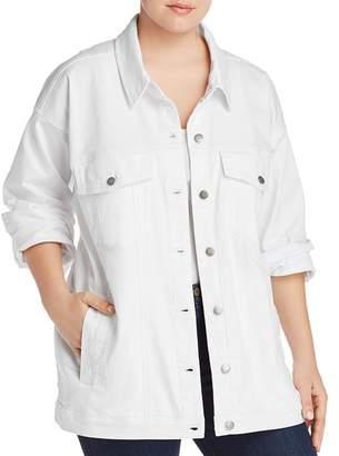 Eileen Fisher Plus Classic Denim Jacket