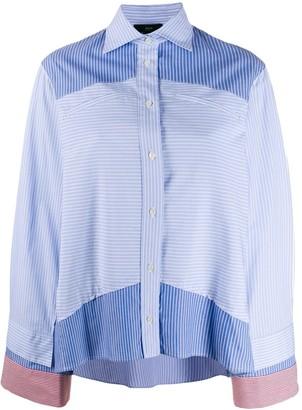 Jejia striped panel shirt