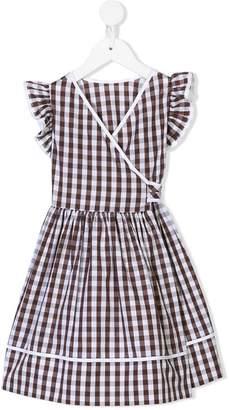 Il Gufo gingham wrap dress