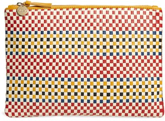 Clare Vivier Flat Woven Leather Clutch