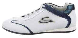 Santoni Leather Low-Top Sneakers w/ Tags