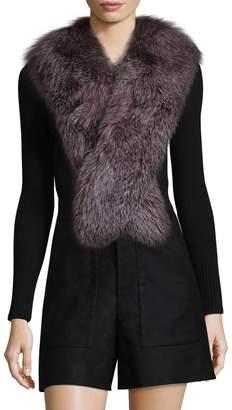 Karl Lagerfeld Paris Women's Dyed Fox Scarf