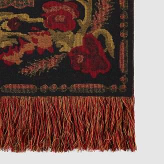Gucci Vintage flower wool throw blanket