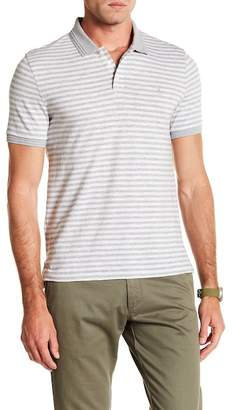 Original Penguin Short Sleeve Slub Feeder Stripe Polo