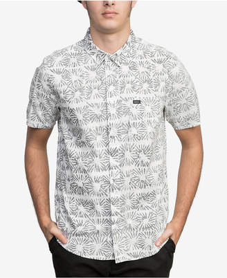 RVCA Men's Flower Block Printed Pocket Shirt