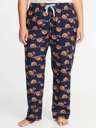 Old Navy Patterned Plus-Size Flannel Sleep Pants