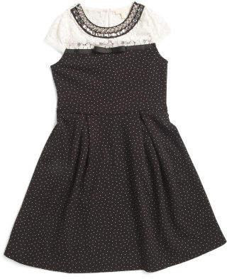 Big Girls Jeweled Collar Dress