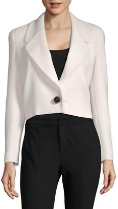 Carolina Herrera Women's Cropped Wool Blazer