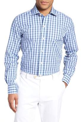Ledbury Hayden Trim Fit Windowpane Dress Shirt