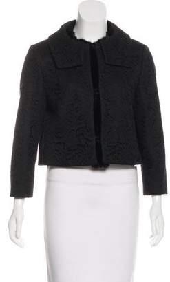 No.21 No. 21 Lace Mink-Trimmed Jacket
