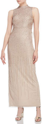 Adrianna Papell Beaded & Sequin Mesh Gown