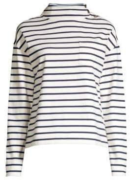 Vineyard Vines Striped Mockneck Pocket Pullover