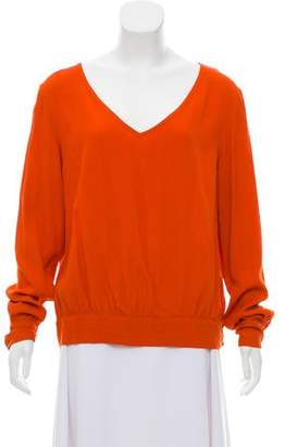 Dries Van Noten V-Neck Long Sleeve Top