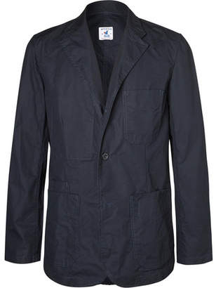 Arpenteur Navy Unstructured Cotton Blazer
