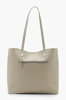 boohoo Zip Window Tote Bag
