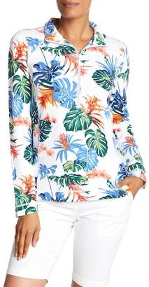 Tommy Bahama Partial Zip Floral Sweater