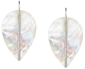 Asha By Ashley Mccormick Diamond Leaf Earrings