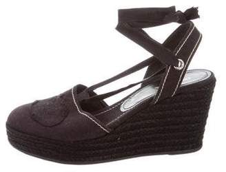 06d108adf Prada Blue Wedge Heel Women's Sandals - ShopStyle