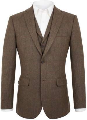 Men's Aston & Gunn Edenfield Tobacco Herringbone Jacket