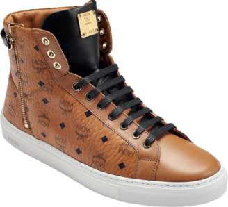 MCM Women's High Top Turnlock Sneakers In Visetos