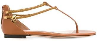 Alexander McQueen zipped styled flat sandals