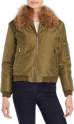 Equipment Love Token Removable Real Fur Lined Bomber