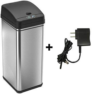 iTouchless 13 Gallon Automatic Touchless Sensor Kitchen Trash Can with AC Adapter