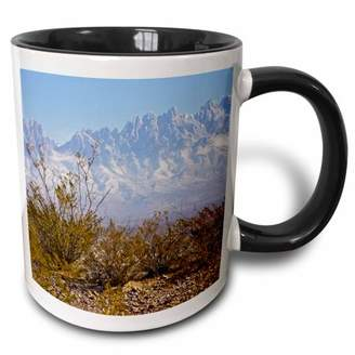 3dRose Organ Mountains, Las Cruces, New Mexico - US32 LDI0002 - Larry Ditto - Two Tone Black Mug, 11-ounce