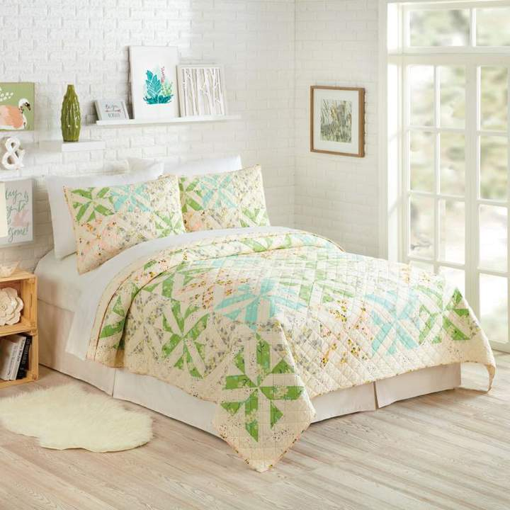 Peking Handicraft, Inc. Bonnie Christine Cascade 3pc Quilt Set - King