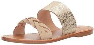 Soludos Women's Metallic Braided Slide Flat Sandal