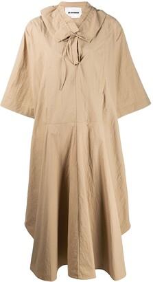 Jil Sander ruffle collar dress