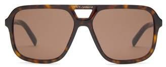 Dolce & Gabbana Angel Square Acetate Sunglasses - Mens - Tortoiseshell