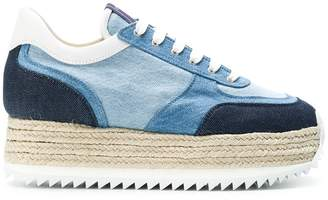 Le Silla denim espadrilles platform sneakers