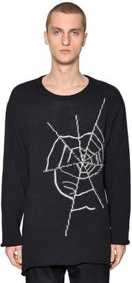 Yohji Yamamoto Spider Web Cotton Knit Sweater