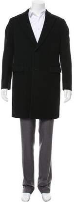 Armani Collezioni Wool Peaked-Lapel Overcoat