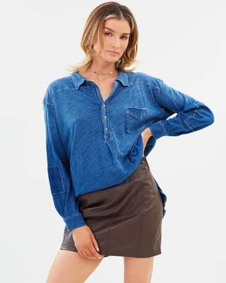 Free People Retro Body-Con Mini Skirt