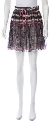 Mes Demoiselles Tie-Dye Printed Mini Skirt