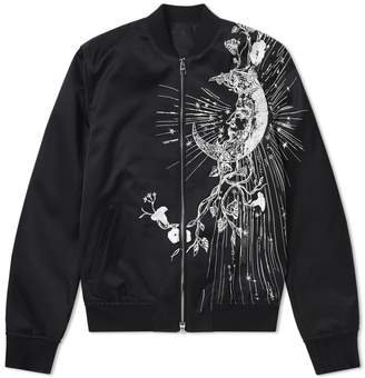 Alexander McQueen Contrast Embroidery Bomber Jacket