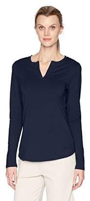Cutter & Buck Women's Stretch Jersey Blend Avail Double V-Neck Long Sleeve Shirt