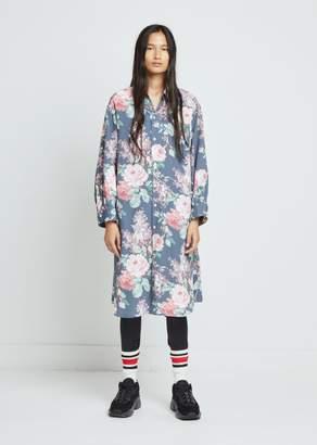Junya Watanabe Polyester Faille Flower Print Dress